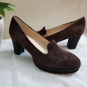 Sacha London  Basilia brown leather oxford bootie